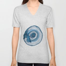 Blue Agate Painting Unisex V-Neck