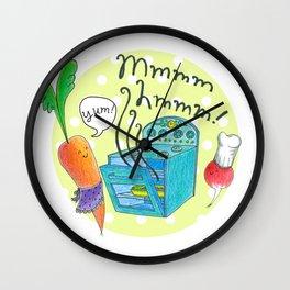 Mmm-Hmm! Kitchen Wall Clock