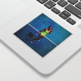 Serena Williams Tennis Celebrating Sticker