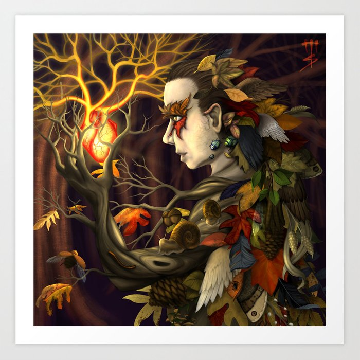 Heart of the Forest Art Print