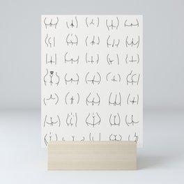 Nice Bum Body Positive  Mini Art Print