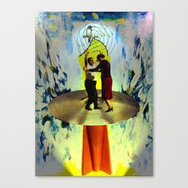Rudy and Esther ascend to the mother ship Canvas Print
