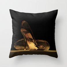 Cinderella's High Heels Throw Pillow