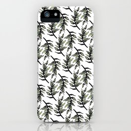 Greenery : Leaf Pattern - Katrina Niswander iPhone Case