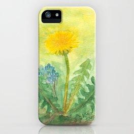 Dandelion In The Garden iPhone Case