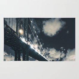 manhattan bridge in nyc Rug