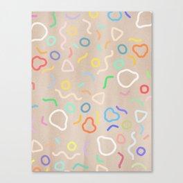 Confetti Party Canvas Print