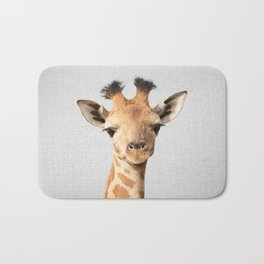 Baby Giraffe - Colorful Bath Mat