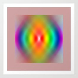 Rainbow Spiral Art Print