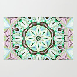 Mandala with fantasy flower and tribal patterns Rug