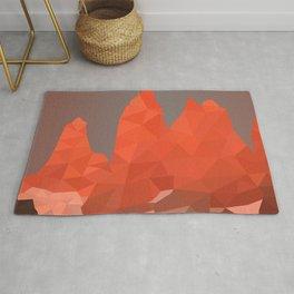 Torres del Paine National Park Low Poly Art Rug