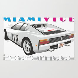 Ferrari Testarossa from Miami Vice Rug