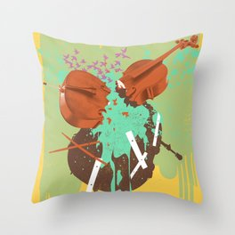 BUSTED MUSIC Throw Pillow