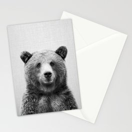 Grizzly Bear - Black & White Stationery Cards