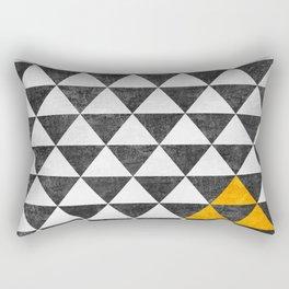 Triangle - Yellow III Rectangular Pillow