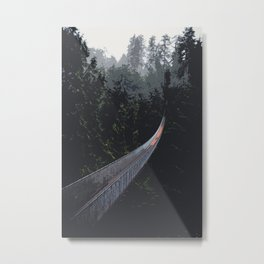 Into the Forest - Digital Art Metal Print