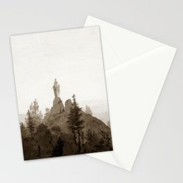 Statue of the Madonna in the Mountains Stationery Cards