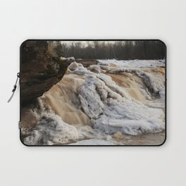 Wintry Bonanza Falls  Laptop Sleeve