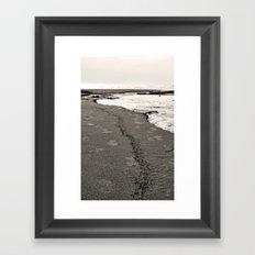Sand Stripe Framed Art Print