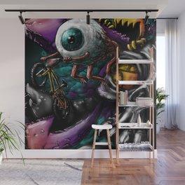 BMX eyeball. Wall Mural