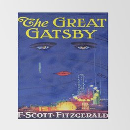 The Great Gatsby vintage book cover - Fitzgerald Throw Blanket