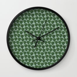 Swiss Cheese Plant by Robyn R Wells Wall Clock