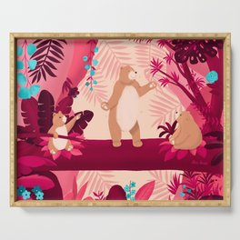 Dancing with the bears Serving Tray