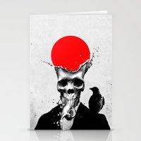 splash Stationery Cards featuring SPLASH SKULL by Ali GULEC