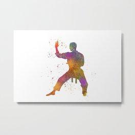Taewondo-karate-muay thai in watercolor 01 Metal Print