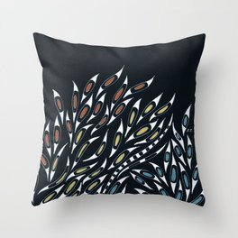 Doodle Abstract Funky Pattern Ink Throw Pillow