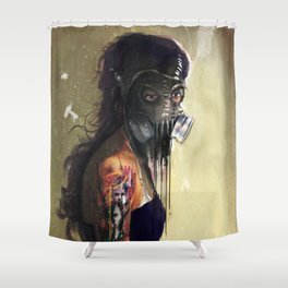 Fighting In a Dream  Shower Curtain