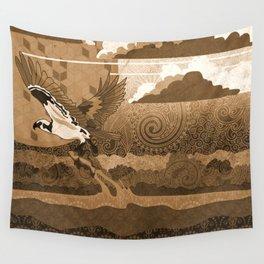 Osprey Monochrome Wall Tapestry