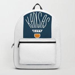Kansas City Shuttlecock Type - White Backpack