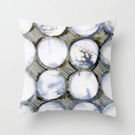 WATERCOLOUR DISCS: White Howlite (detail ) Throw Pillow