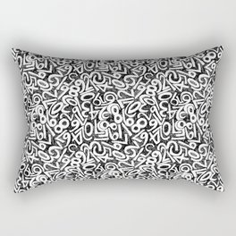 Numbers pattern in black and white Rectangular Pillow