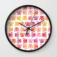 swimming Wall Clocks featuring Swimming by Robin Gayl