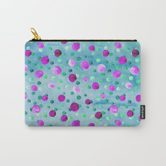 Polka Dot Pattern 10 Carry-All Pouch