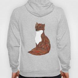 'Earthen Fox' Illustrated Geometric Line Art Fox Hoody