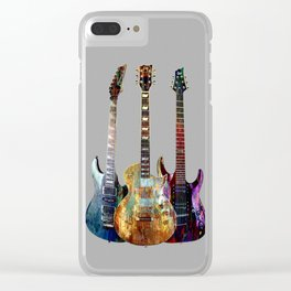 Sounds of music.Three Guitars. Clear iPhone Case