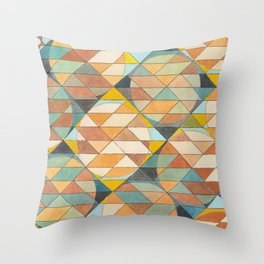 Triangles and Circles Pattern no.23 Throw Pillow