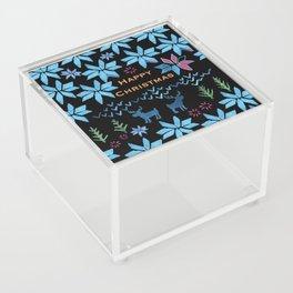 Christmas Fair Isle Acrylic Box