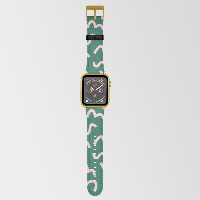 Funky Green and Pink Pattern Apple Watch Band