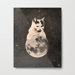 Mooncat #2 Metal Print