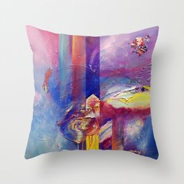 Eye of the Storm by Nadia J Art Throw Pillow