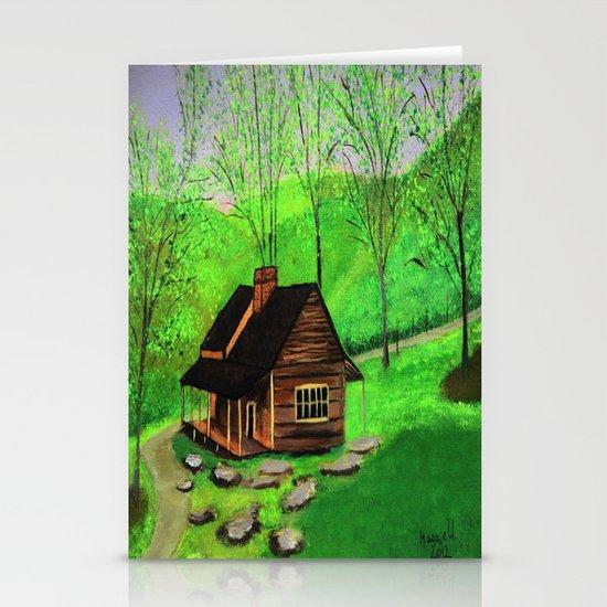Hillside cabin Stationery Cards