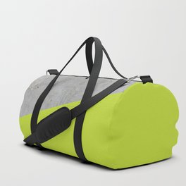 Concrete with Lime Punch Color Duffle Bag