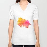 splash V-neck T-shirts featuring Splash #society6 #buyart #decor by 83 Oranges™
