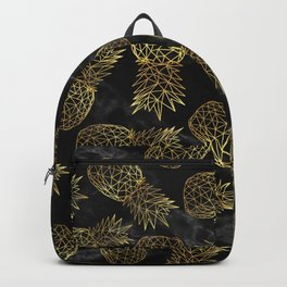 Modern geometric gold pineapples design Backpack
