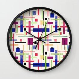 Colorful abstract. Wall Clock