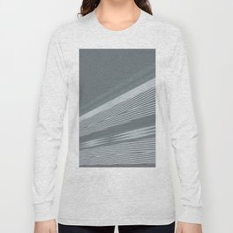 Abstract asymmetrical pattern in shades of gray . Long Sleeve T-shirt